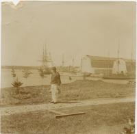 Ships in harbor, Kittery Navy Yard, 1868