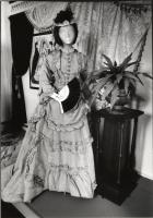Two-piece wedding dress, 1872