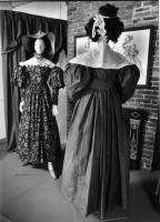 Brown silk dress, ca. 1830