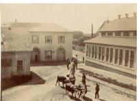 Transporting mast, Kittery Navy Yard, 1897