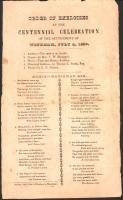 Program, Windham settlement centennial, 1839