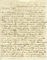 John Davison letter from Savannah, Georgia, June 15, 1847