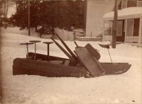Wood snow plow