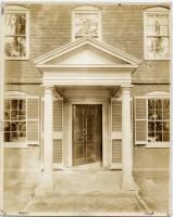 Front door of the Wadsworth-Longfellow House in Portland, ca. 1902