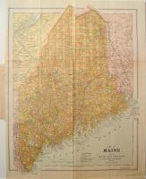 Map of Maine, 1905