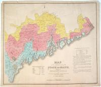Map of the Inhabited Part of Maine, Moses Greenleaf,  1829
