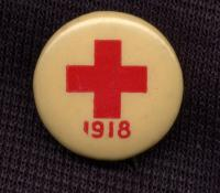 Red Cross button - 1918