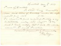 Civil War bounty receipt, Houlton, 1864