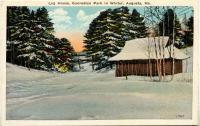 Log house, Ganneston Park, Augusta, ca. 1900