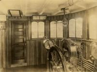 The Pilothouse on the Steamer Ripogenus, ca. 1917