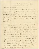 Henry Wadsworth Longfellow letter to George S. Hillard, 1837