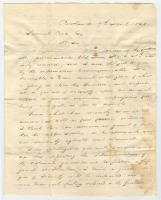 C. S. Davies letter on conditions in Northern Maine, 1828