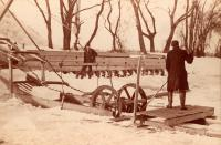 Ice harvesting equipment, Bowdoinham, ca. 1895