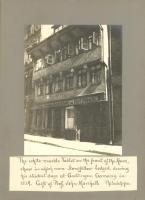 Henry W. Longfellow's Student Lodgings in Goettingen, Germany, 1908