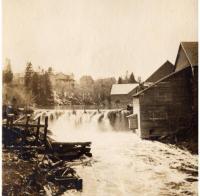 Runnel's Dam in Caribou, ca. 1900