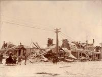 Fire in Caribou, 1890
