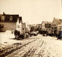 Winter on North Main Street, Caribou, ca. 1900