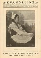 Theater Program for Evangeline, 1902