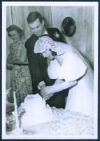 Johnson wedding, Brunswick, 1945