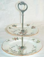 Tiered plate stand, Brunswick, ca. 1900