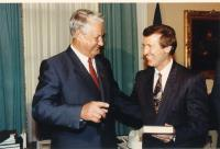 Boris Yeltsin visits U.S. Congress, 1991