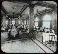Congress Square Hotel, dining room, Portland, ca. 1900