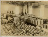 Empty Howitzer shell casings, Portland Company, ca. 1918
