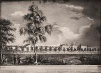 N.W. view of Waterville College, ca. 1830