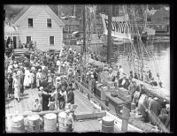Capt. MacMillan's departure, Wiscasset, 1925