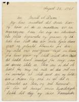 Letter of thanks, Portland, 1931