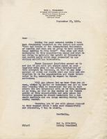Letter concerning demise of Inter Racial Fellowship, Portland, 1936