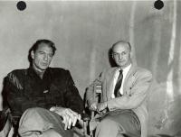 Howard Cail and Gary Cooper, ca. 1950