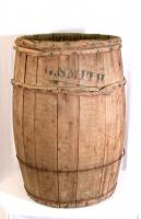 Softwood potato barrel, Hodgdon, ca. 1950