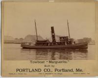 The tow boat Marguerite, Portland Company, ca. 1893
