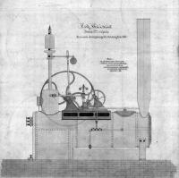 Fog Whistle Engineering Drawing, Portland Company, 1868