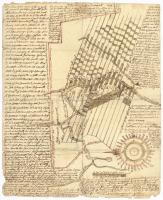 Manuscript map of Kennebec River area, 1771