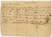 Note from Mark Fernald, 1809
