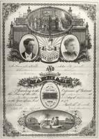Noble marriage certificate, West Baldwin, 1896
