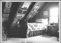 Attic bedroom, Glady Hasty Carroll home, 1937