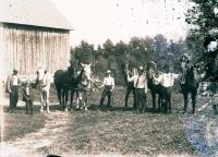 Farm gathering, Houlton, ca. 1900