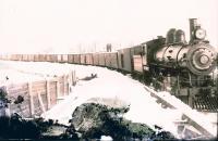 Bangor and Aroostook Railroad engine 48, Houlton, c. 1900