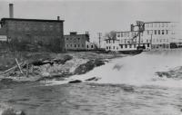 Shops and mill buildings at Saccarappa Falls, Westbrook, ca. 1890