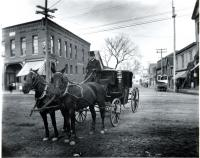 Roberts Stable hack, Westbrook, ca. 1888