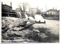 Old Log Dam, Westbrook, ca. 1900