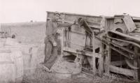 Threshing grain, Caribou, ca. 1930