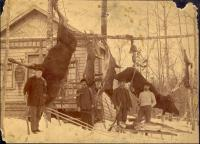 Gerrish Hunting Camp, North Twin Dam, ca. 1895