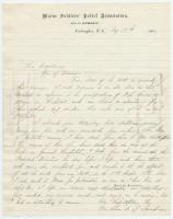 Sarah Sampson letter to governor, August 17, 1863