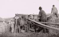 Grain thresher, Caribou, ca. 1930