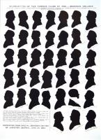 Silhouettes of the Famous Class of 1825, Bowdoin College