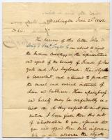 Letter of Introduction to Choctaw Nation, 1842